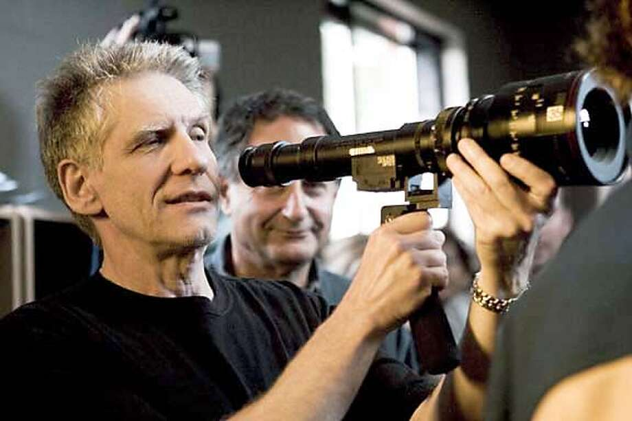"Director David Cronenberg, on the set of ""A History of Violence."" on 9/22/05 in . / HO"
