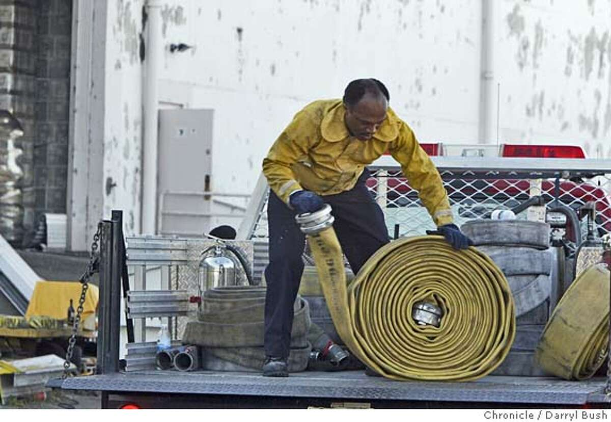 Vallejo firefighters finish clean up after a blaze damaged wine stored at