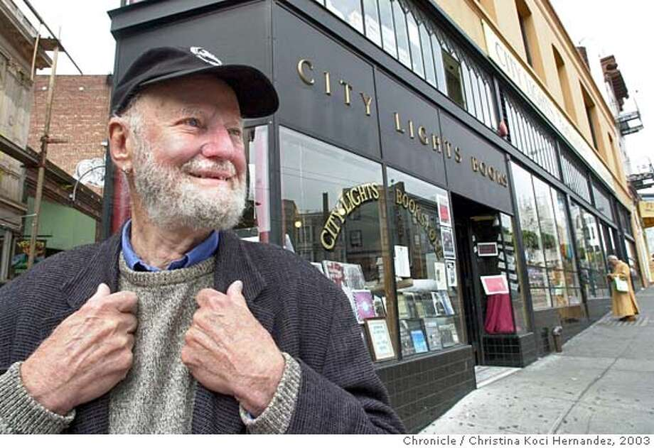 City Lights Bookstore celebrates its 50th anniversary and we document the store and shoot owner, Lawrence Ferlinghetti . Shot on 5/29/03 in San Francisco. CHRISTINA KOCI HERNANDEZ / The Chronicle Photo: CHRISTINA KOCI HERNANDEZ