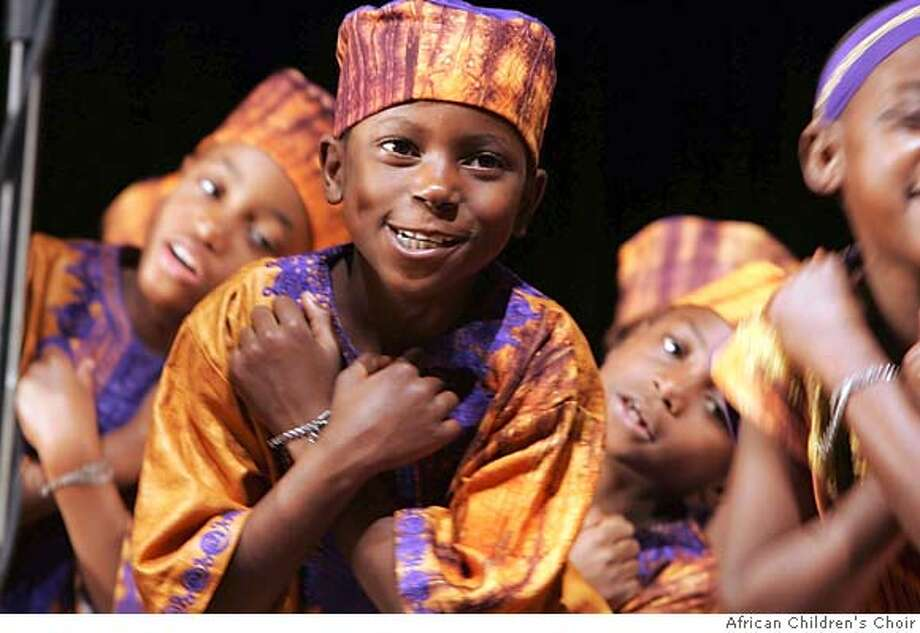 The African Children's Choir performs April 20 in Redwood City, April 29 in Berkeley, May 6 in San Francisco and May 6 (evening) in Oakland.  Credit: African Children's Choir Photo: African Children's Choir