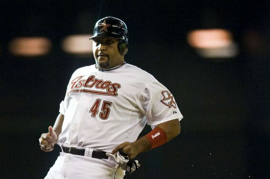 48. Carlos Lee, OF-1B (2007-2011).286/.338/.486 with 128 HRs, 504 RBIs, 352 Rs, 26 SBs and 6.7 Wins Above Replacement in 749 games. No, he wasn't worth the $100 million contract, and his defense leaves something to be desired, but his offensive production has been in line with what he'd done before he arrived in Houston. (Patrick T. Fallon / Houston Chronicle)