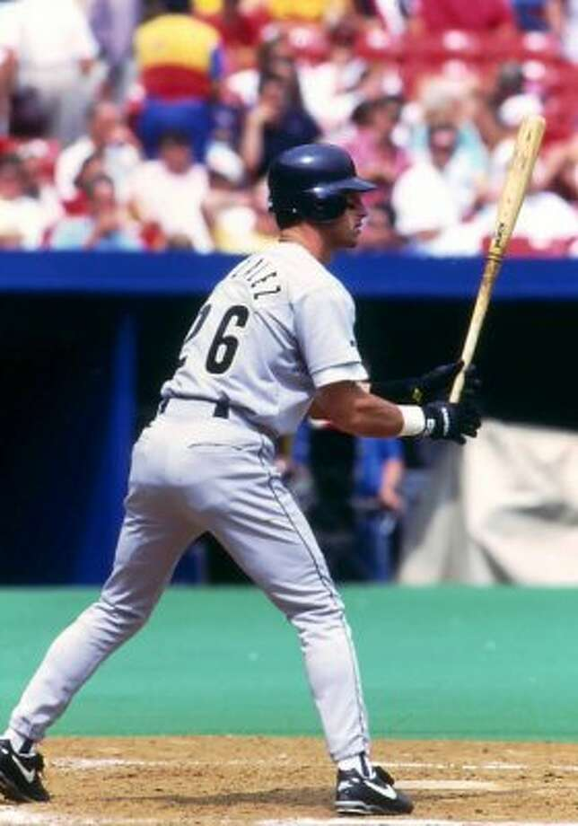 46. Luis Gonzalez, OF (1990-1995, 1997).266/.335/.417 batting line with 62 HRs, 366 RBIs, 344 Rs, 63 SBs and 13.5 Wins Above Replacement in 745 games. Unspectacular in his 20s, became a breakout star in his 30s with Diamondbacks. (Courtesy of the Astros)