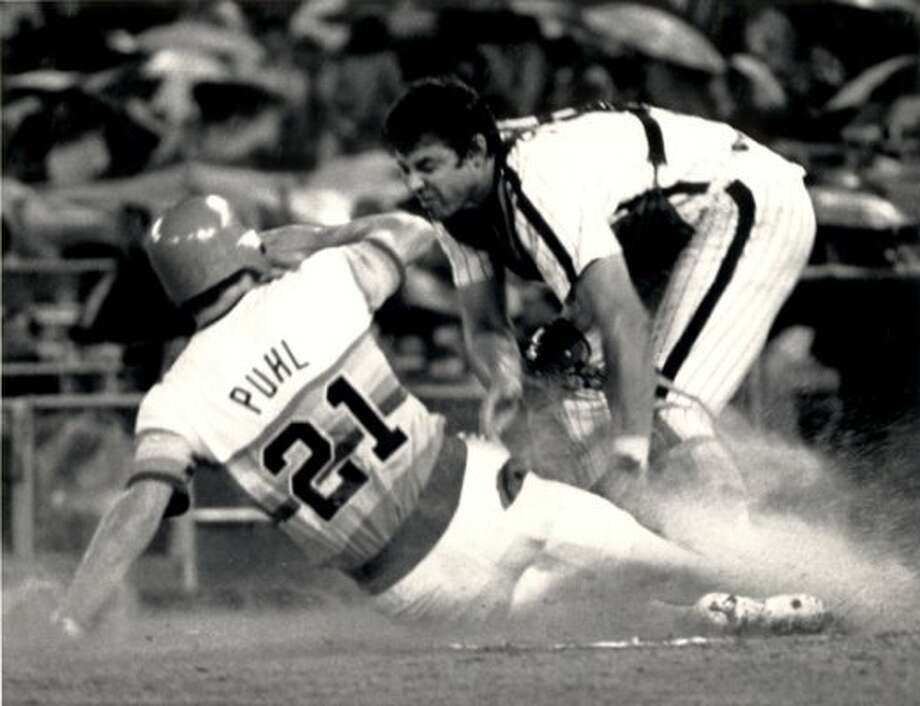 21. Terry Puhl, OF (1977-1990).281/.349/.389 batting line with 62 HRs, 432 RBIs, 676 Rs, 217 SBs and 26.1 Wins Above Replacement in 1,516 games. An All-Star in 1978, one of the best players to come out of Canada. (Courtesy of the Astros)