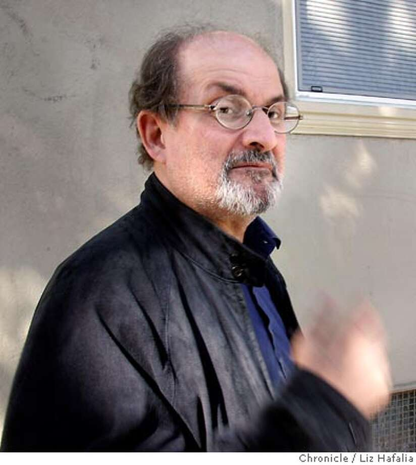 """Salman Rushdie is the Indian-British author whose book, """"Satanic Verses,"""" created a firestorm in the Islamic fundamentalist world and brought a fatwa -- a death order -- from the ayatollah. Photographed by Liz Hafalia on 9/21/05 in San Francisco, California. SFC Photo: Liz Hafalia"""