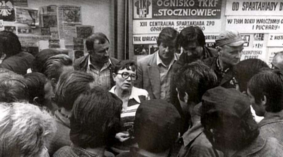 Anna Walentynowicz, leader of the 1980 gdansk shipyard strikes.