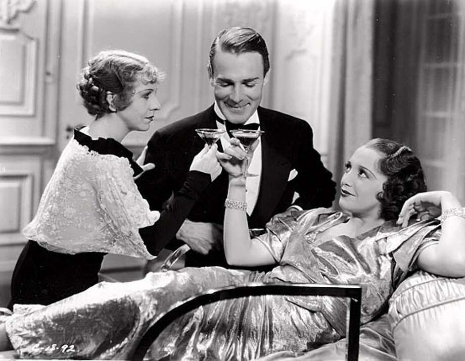 """Bebe Daniels (right) with Randolph Scott in """"The Cocktail Hour."""" Photo courtesy of Columbia Pictures"""