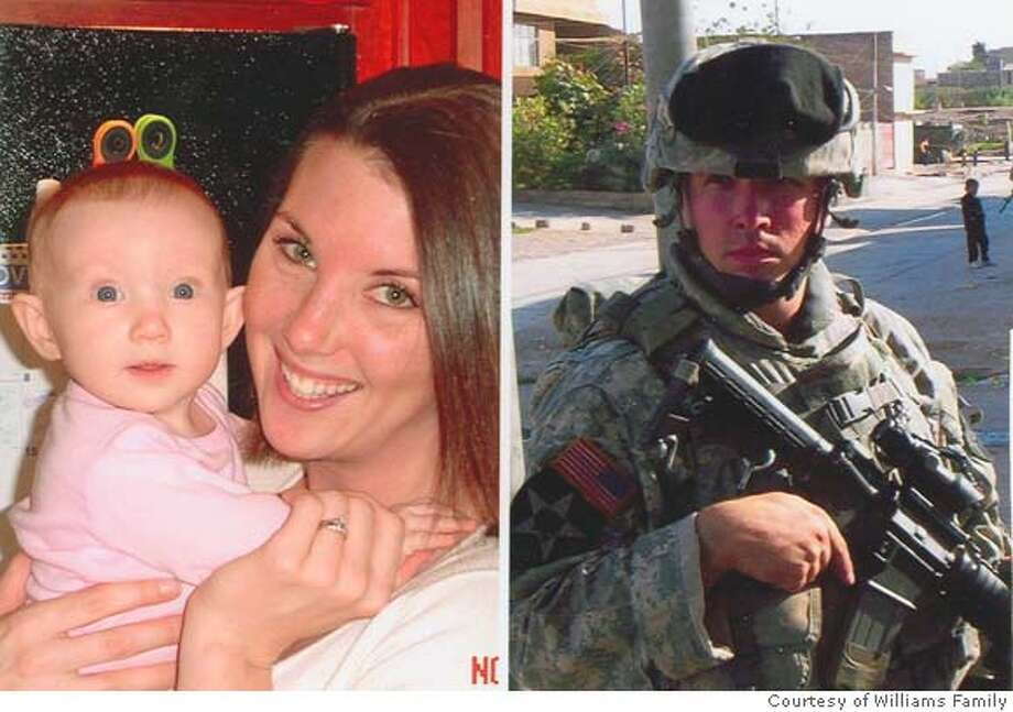 Army Staff Sgt. Jesse Williams (photo on right), 25, was killed Saturday April 7, 2007 in Iraq.  Credit: Courtesy Williams Family Photo: Courtesy Of The Williams Family