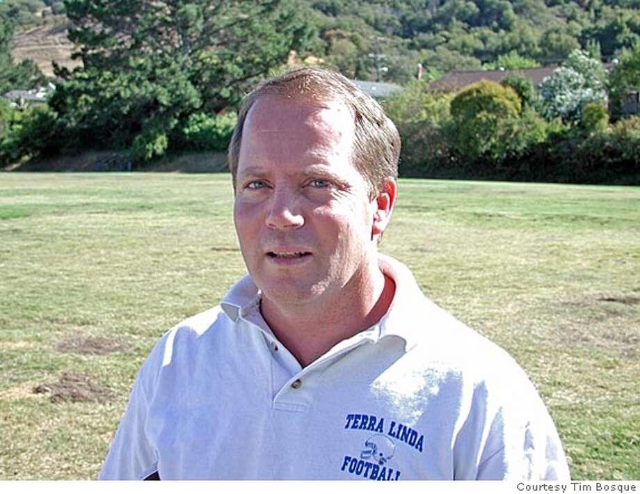 .JPG Tim Bosque, football coach at Terra Linda High School. Courtesy Tim Bosque Photo: Courtesy