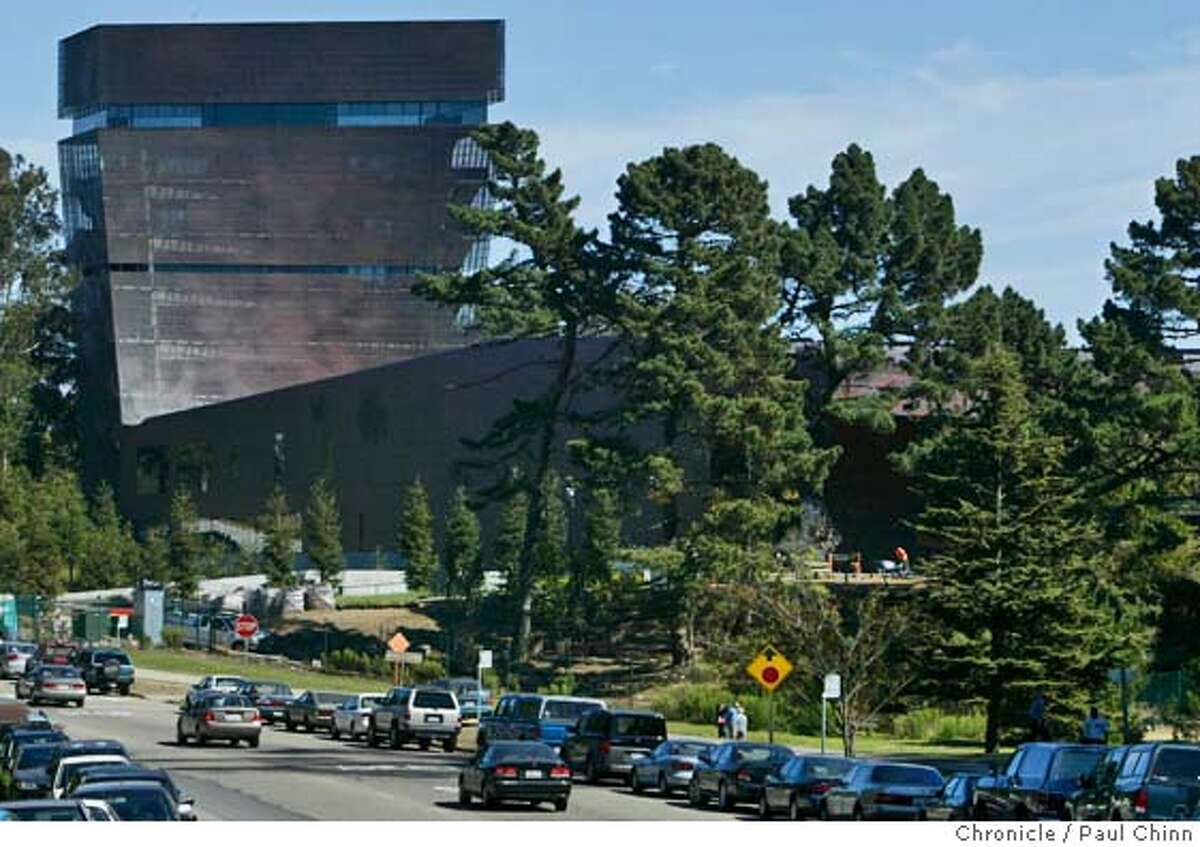 deyoung06_005_pc.jpg The museum's tower dominates the landscape looking east from John F. Kennedy Drive. Exterior views of the new de Young Museum in Golden Gate Park on 10/5/05 in San Francisco, Calif. PAUL CHINN/The Chronicle MANDATORY CREDIT FOR PHOTOG AND S.F. CHRONICLE/ - MAGS OUT