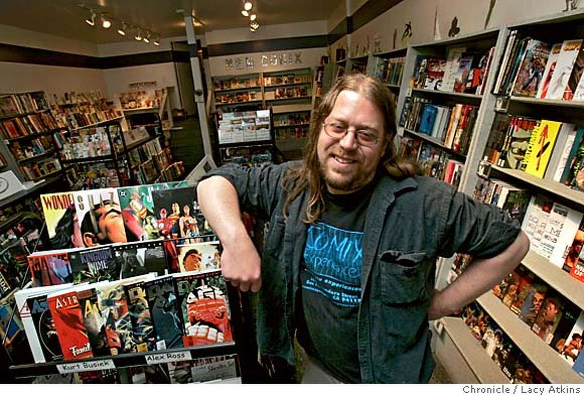 .Brian , owner of a San Francisco comic store, Comix Experience, sued Marvel Comics over the company's returns policy. This week, retailers worldwide will benefit from standing up to Marvel as a result of a settlement reached in the case. Photographer: Atkins, Lacy