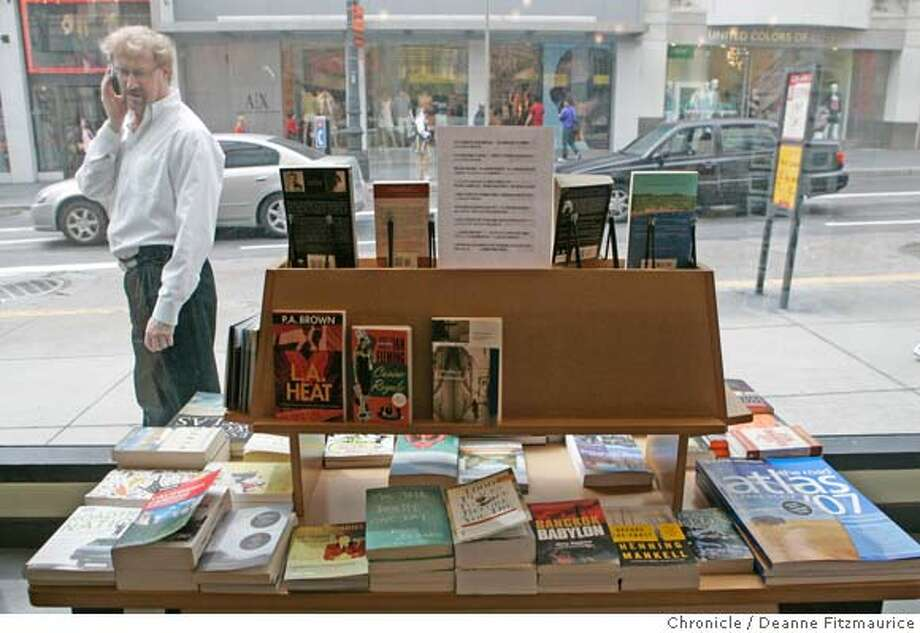 David Wright looks at a book display. Cody's Books in San Francisco will be closing on April 20. Photographed in San Francisco on 4/5/07. Deanne Fitzmaurice / The Chronicle Photo: Deanne Fitzmaurice