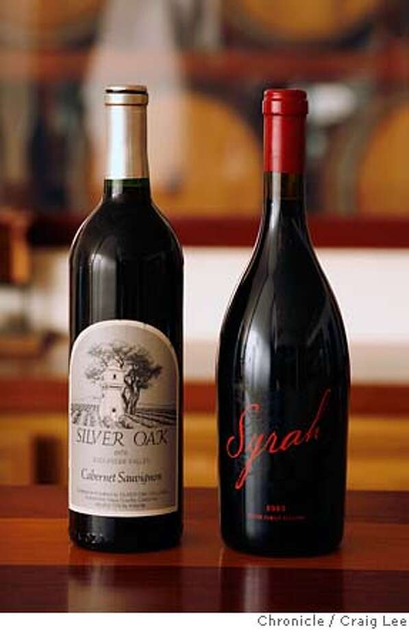 MEYER09_444_cl.JPG  Photo of Matt Meyer of Meyer Family Cellars in Yorkville, CA. He is the son of, Justin Meyer, co-founder of Silver Oak Cellars in Napa. Justin passed away in 2002 and the Meyer Family Cellars continues on through his son, Matt. Photo of a bottle of 1976 Silver Oak Alexander Valley Cabernet Sauvignon, left, and 2003 Meyer Family Cellars Syrah, right.  Event on 2/26/07 in Yorkville. photo by Craig Lee / The Chronicle  Ran on: 04-06-2007  At his Yorkville winery, Matt Meyer, above, cleans out the sediment from a barrel with warm pressurized water. Photo: Photo By Craig Lee