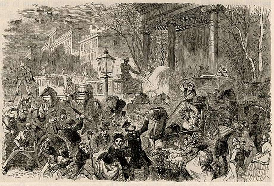 New York Street Scene. Harper's Weekly 1859. Photo: Dan Cryer