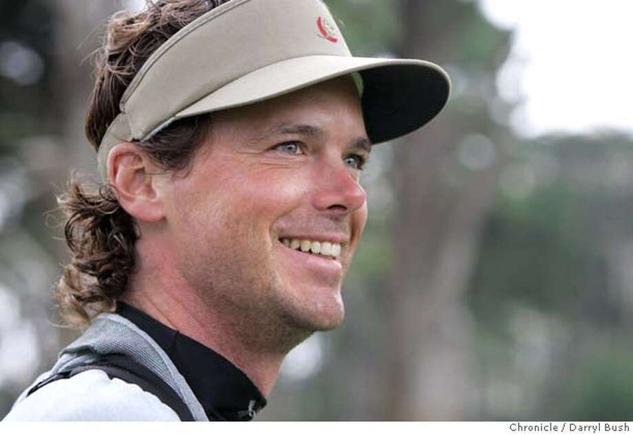nevius_010_db.jpg  Billy Getty smiles while playing golf at Harding Park. Chronicle columnist C. W. Nevius, Billy Getty, teaching pro Divina Delasin, and First Tee program junior golfer Katrina Delen-Briones, 15, all golf at Harding Park Golf Course.  Event on 8/17/05 in San Francisco.  Darryl Bush / The Chronicle Photo: Darryl Bush