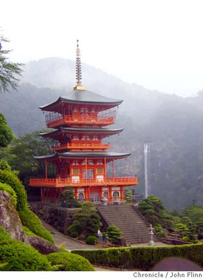 TRAVEL KII -- The Seigantoji Temple and the Nachi waterfall, the highest in Japan. Photo: John Flinn