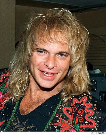 ROTH1-C-08MAY02-HM-AP --- Former Van Halen singer David Lee Roth is shown in this 1988 photo. Roth may seek punitive damages in a $5 million lawsuit alleging his insurance companies failed to fully reimburse him for damage to his Pasadena, Calif., home from a 1994 earthquake. On Thursday, Nov. 7, 1996, a judge ruled against a motion filed by RLI Insurance Co., one of three companies named in the suit, to eliminate the possibility of punitive damages being awarded, but left open the possibility he might later reversehimself. (AP Photo/)  (BY /ASSOCIATED PRESS)