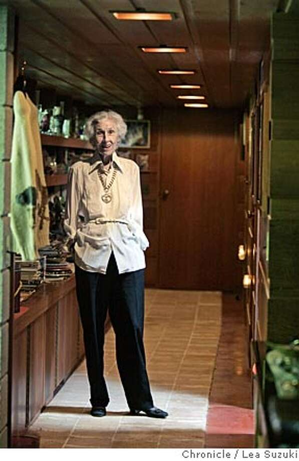 Katie Buehler. We need some shots of the home and garden of Katie Buehler in Orinda. Katie and her late husband commissioned Frank Lloyd Wright to design the home back in 1948. The story has a number of anecdotes about Wright and his eccentricities and the house has a lot of famous Wright touches, including variations in ceiling heights, particularly in the living room. Wright intentionally made the kitchen small, overriding Katie's instructions.  According to the story, it is the only single family home in the Bay Area designed by Wright who did the bulk of his work in the Midwest.  The garden was designed by a famous Japanese landscape architect and includes a Japanese-style guest house. City:� {event} on 08/29/05 by LEA SUZUKI Photo: LEA SUZUKI