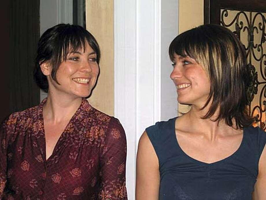 Jessica Vohs, left, and Miranda Zeiger, members of 'willow willow'.  No credit.