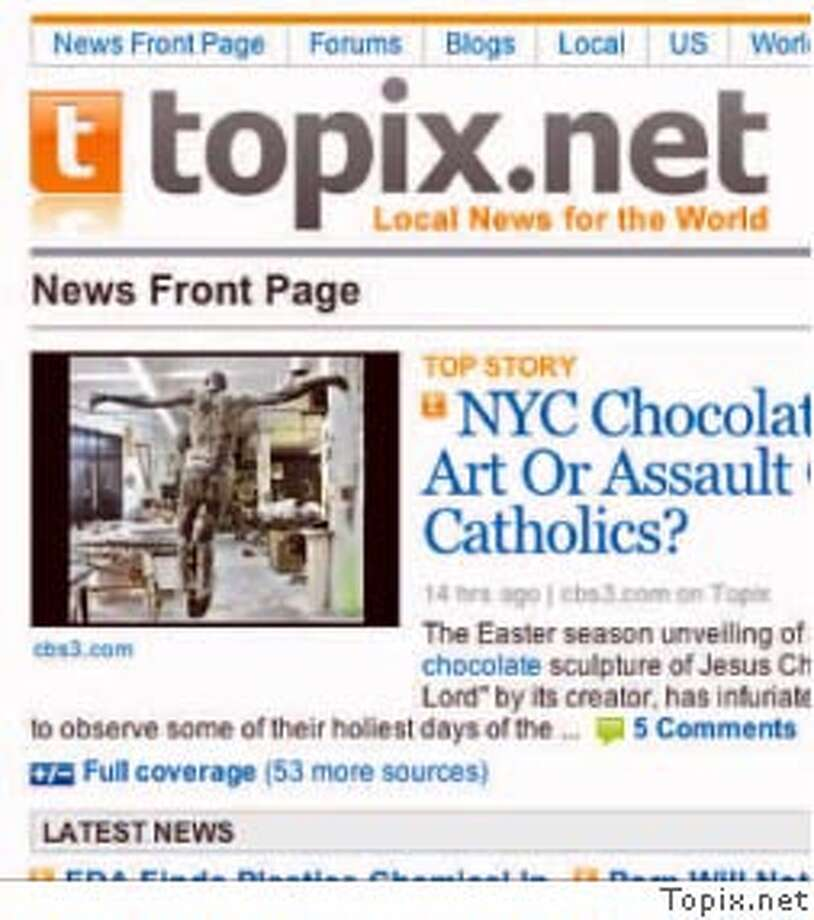 Topix, a news Web site, is shifting its address from Topix.net to Photo courtesy of Topix.com