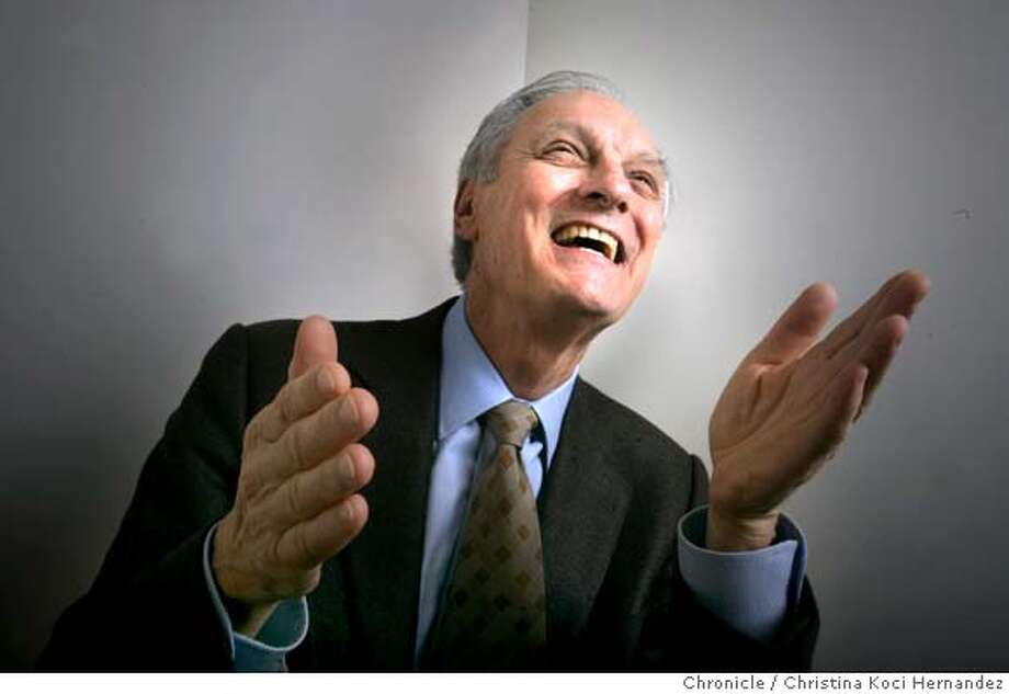 """CHRISTINA KOCI HERNANDEZ/CHRONICLE  Shot at office.Alan Alda, forever famous as """"Hawkeye"""" in the long-running sitcom """"M*A*S*H,"""" has written a memoir, """"Never Have Your Dog Stuffed."""" It's a banner year for the 69-year-old actor. He received an Oscar nomination, a Tony nomination and an Emmy nomination (for """"The West Wing"""") all this year. Photo: CHRISTINA KOCI HERNANDEZ"""