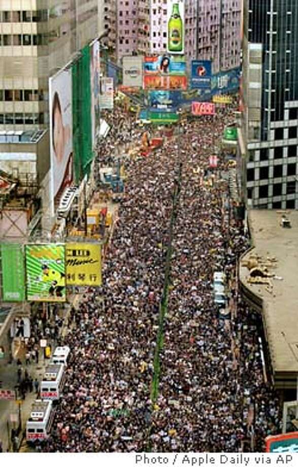 PROTESTERS MARCH