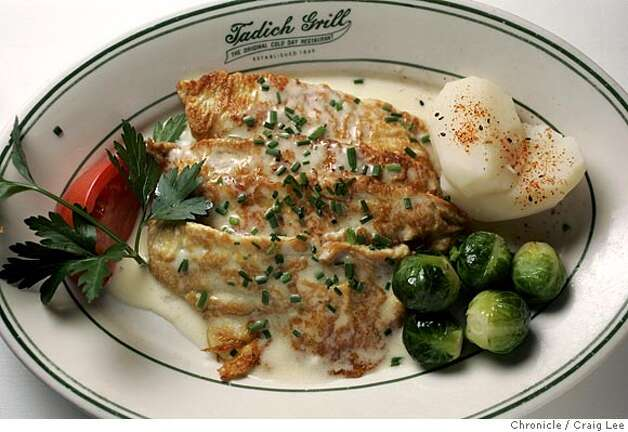 Tadich Grill restaurant, 240 California street. Photo of their dish of sauteed filet of sole.  Event on 9/23/05 in San Francisco. Craig Lee / The Chronicle Photo: Craig Lee