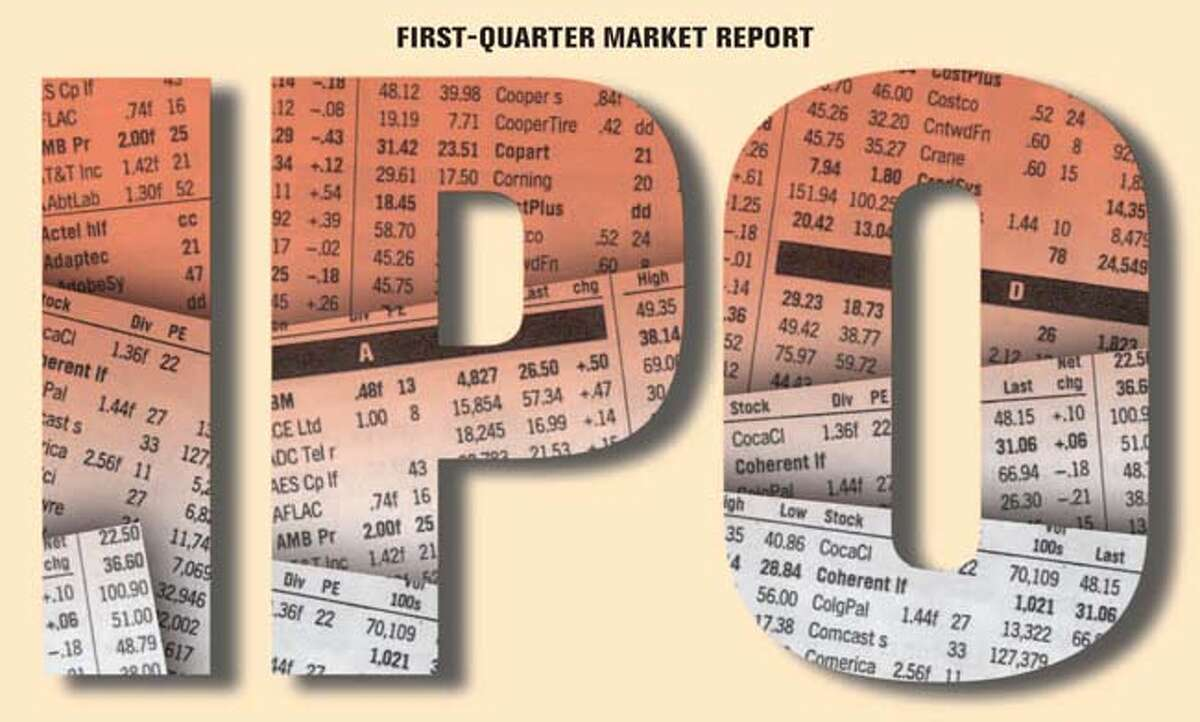 IPO First-Quarter Market Report. Chronicle Graphic