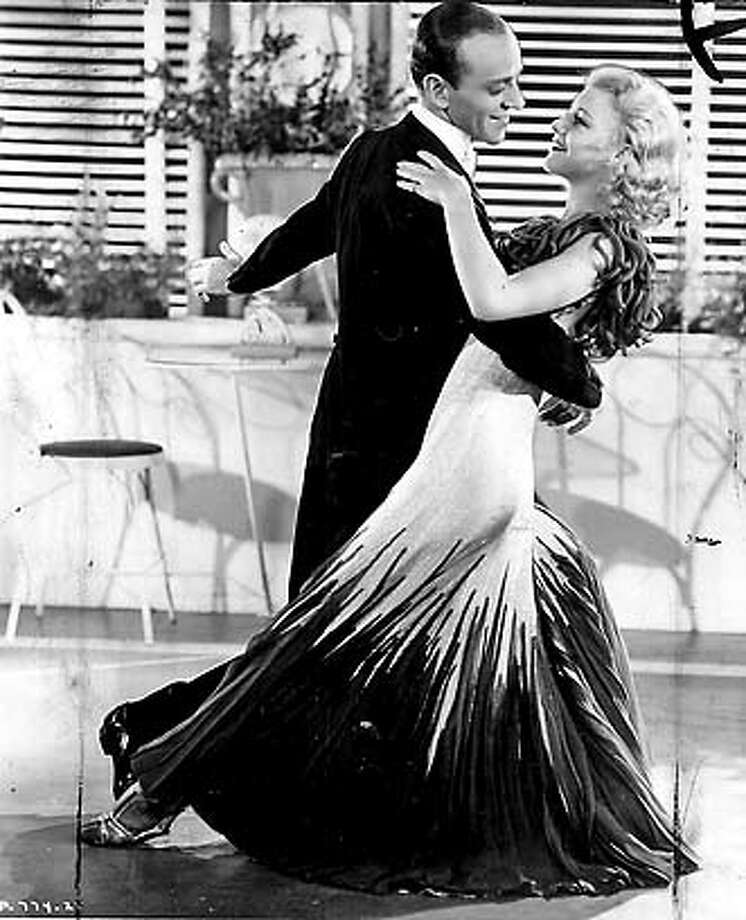 """� filmgoer4 Fred Astair and Ginger Rogers in """"The Gay Divorcee"""" 1934 on 9/29/04 in . / HO MANDATORY CREDIT FOR PHOTOG AND SF CHRONICLE/NO SALES-MAGS OUT"""
