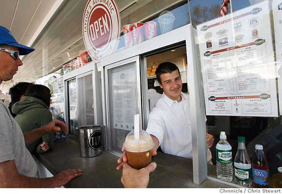 bargain29_038_cs.jpg  Employee Anthony Gammello (cq), 18, waits on customer Taylor's Automatic Refresher in St. Helena. For Bargain Bite in Ninety-Six Hours. Photographed March 21, 2007.  Chris Stewart / The Chronicle Taylor's Automatic Refresher, St. Helena, Anthony Gammello, Bargain Bite Photo: Chris Stewart