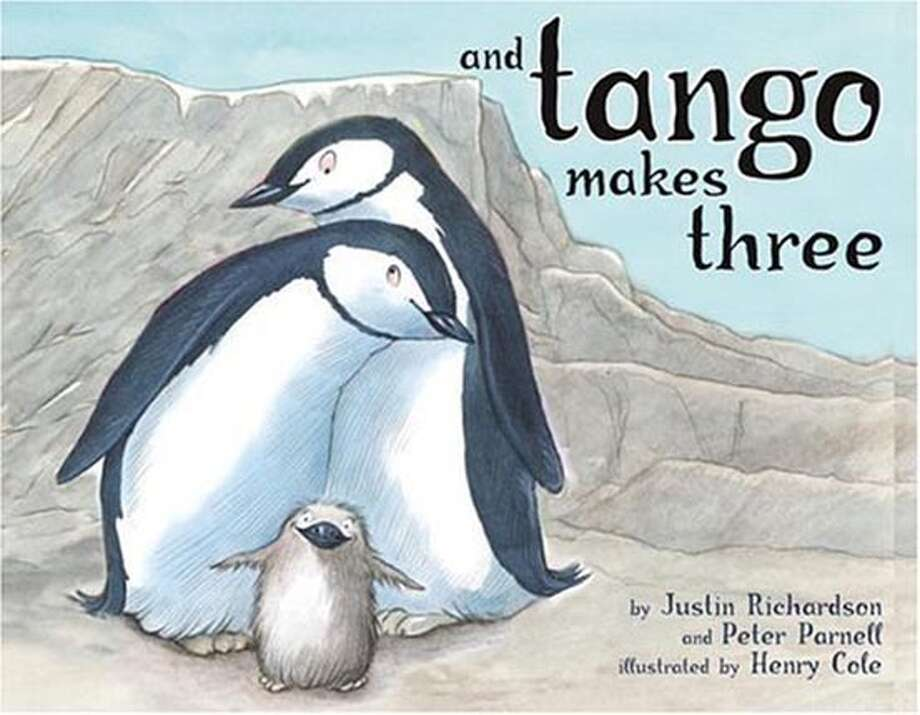 """And Tango Makes Three"" written by Justin Richardson and Peter Parnell and illustrated by Henry Cole (Simon & Schuster; 32 pages; $14.95; ages 4-8)"