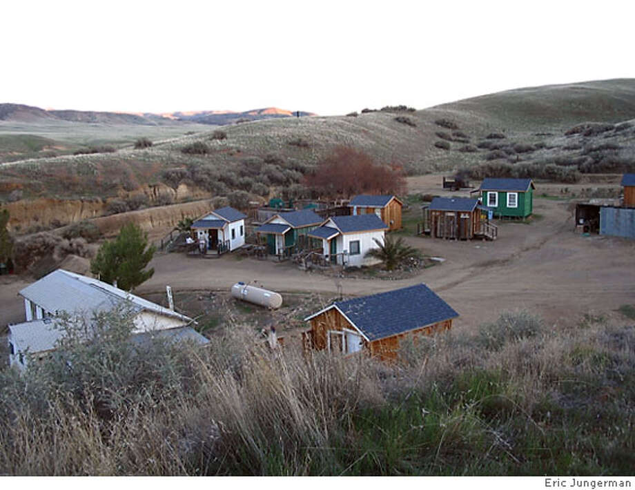 Cabins at Mercey Hot Springs, Panoche Valley, CA. Photo: Eric Jungerman