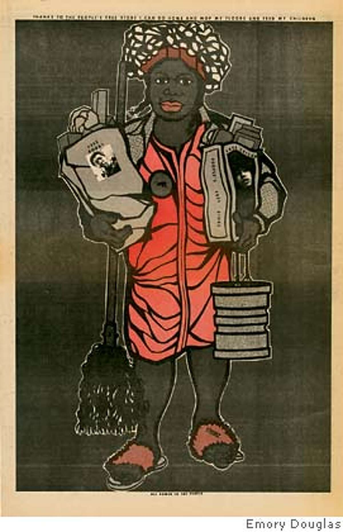 All artwork copyright � Emory Douglas from BLACK PANTHER: THE REVOLUTIONARY ART OF EMORY DOUGLAS edited by Sam Durant, Rizzoli New York, 2007., unless otherwise noted and credit for the book must read � BLACK PANTHER: THE REVOLUTIONARY ART OF EMORY DOUGLAS edited by Sam Durant, Rizzoli New York, 2007.
