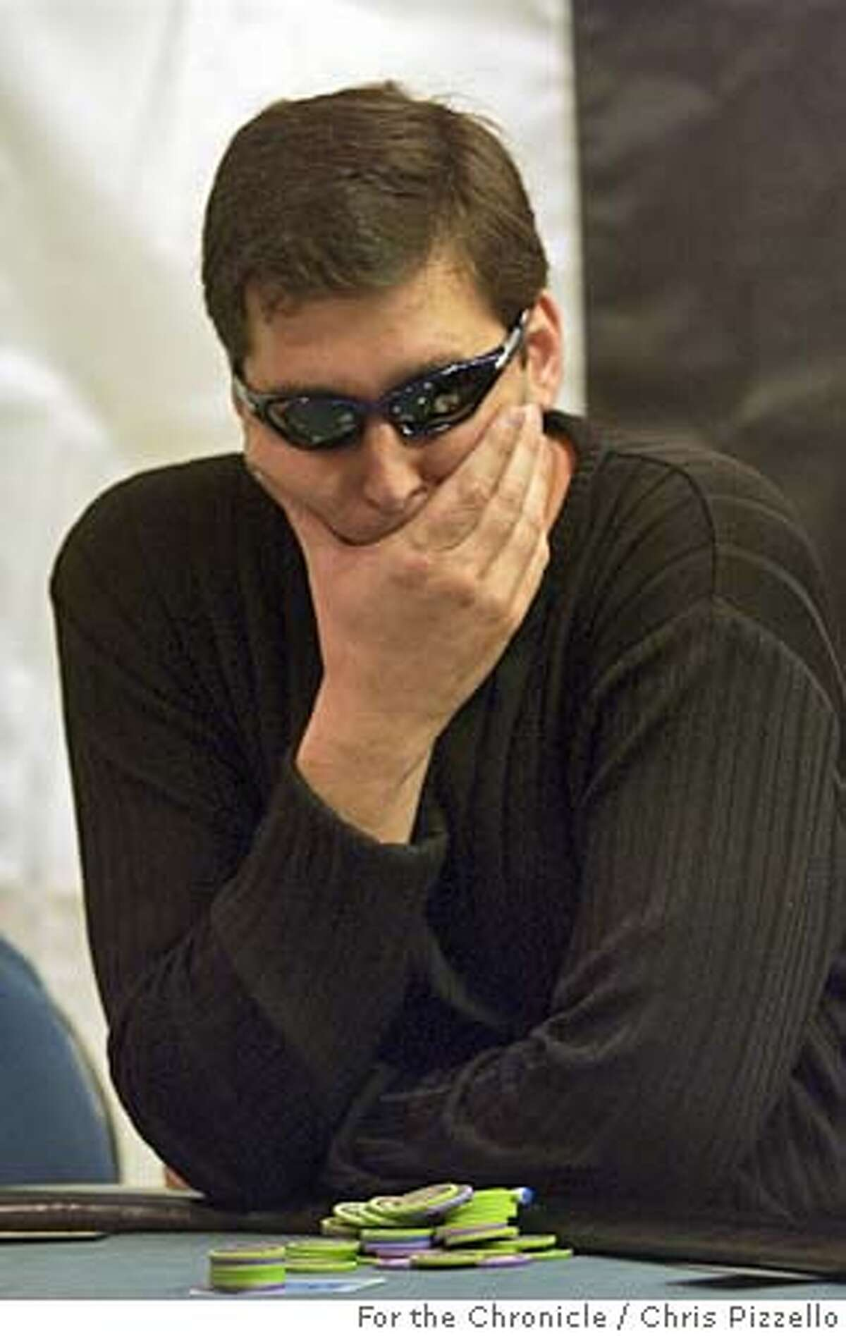 POKER.jpg Phil Hellmuth ( black glasses ) takes part in the World Pocker Tour at the Bicycle Casino in Bell Garden CA. By Chris Pizzello/For the Chronicle CAT as cropped