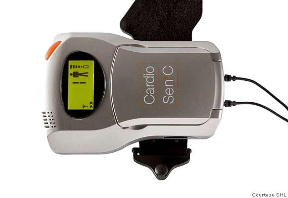 CardioSen'C ECG Unit with embedded cellphone technology. CREDIT: Courtesy SHL Photo: Courtesy SHL