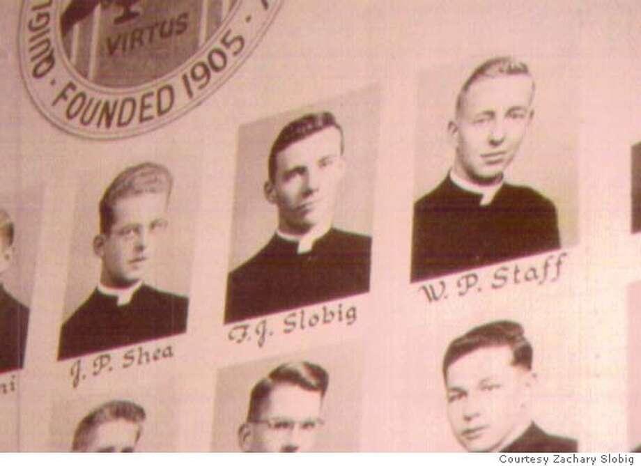 Frank Slobig's class photo from Chicago's Quigley Seminary Photo: Courtesy Zachary Slobig