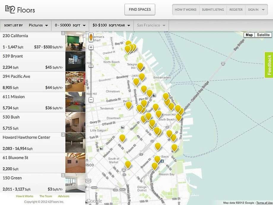 An undated screenshot of the browsing listings on 42Floors. Photo: 42Floors