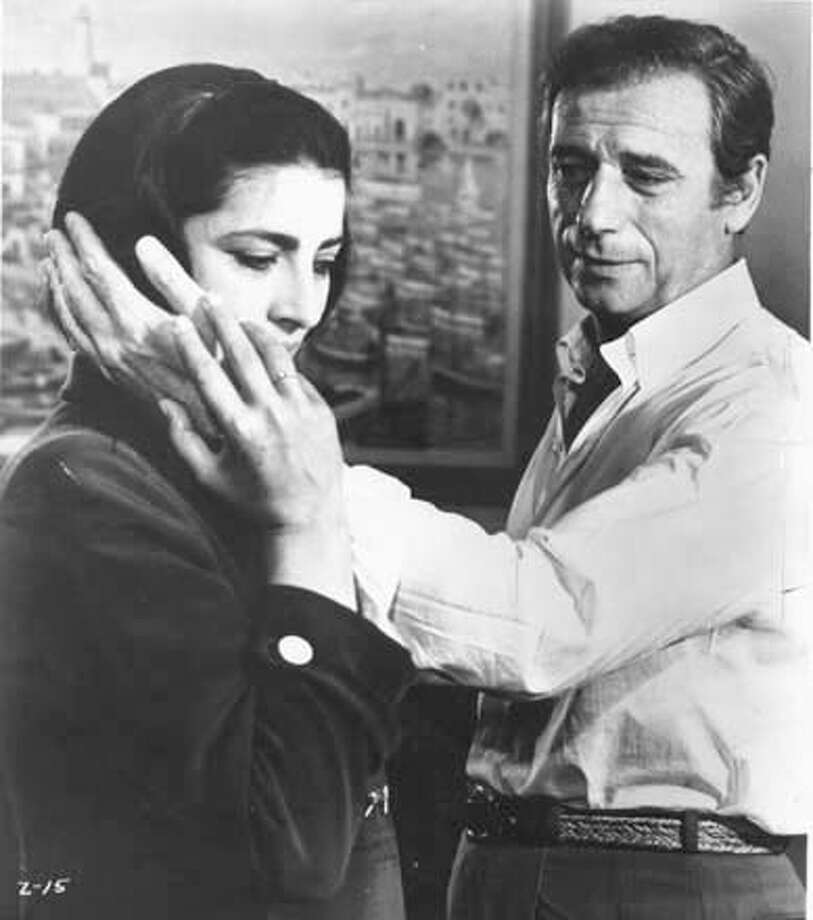 "COSTA3/B/05NOV97/DD/HO-This is a black and white still shot of Yves Montand (right) and Irene Papas from the film ""Z."" Photo: HANDOUT"