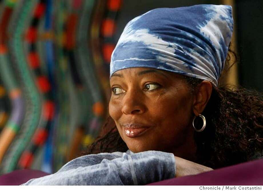 "mcmillan_0101  4/24/06 Terry McMillan, the famed author of ""waiting to exhale,"" among other female-centric books featuring african-american women, is totally out of left field for her. called, IT'S OKAY IF YOU'RE CLUELESS: And 23 more Tips for the College Bound, the small book got its origins when she was asked to do a graduatation speech.  PHOTO: MARK COSTANTINI / SAN FRANCISCO CHRONICLE Photo / Mark Costantini /San Francisco Chronicle Photo: MARK COSTANTINI"