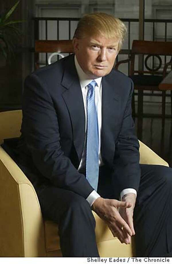 On 9/7/05 in San Francisco.  Donald Trump visits Macy's to promote his new mens clothing line.  Chronicle Photo by Shelley Eades Photo: Shelley Eades
