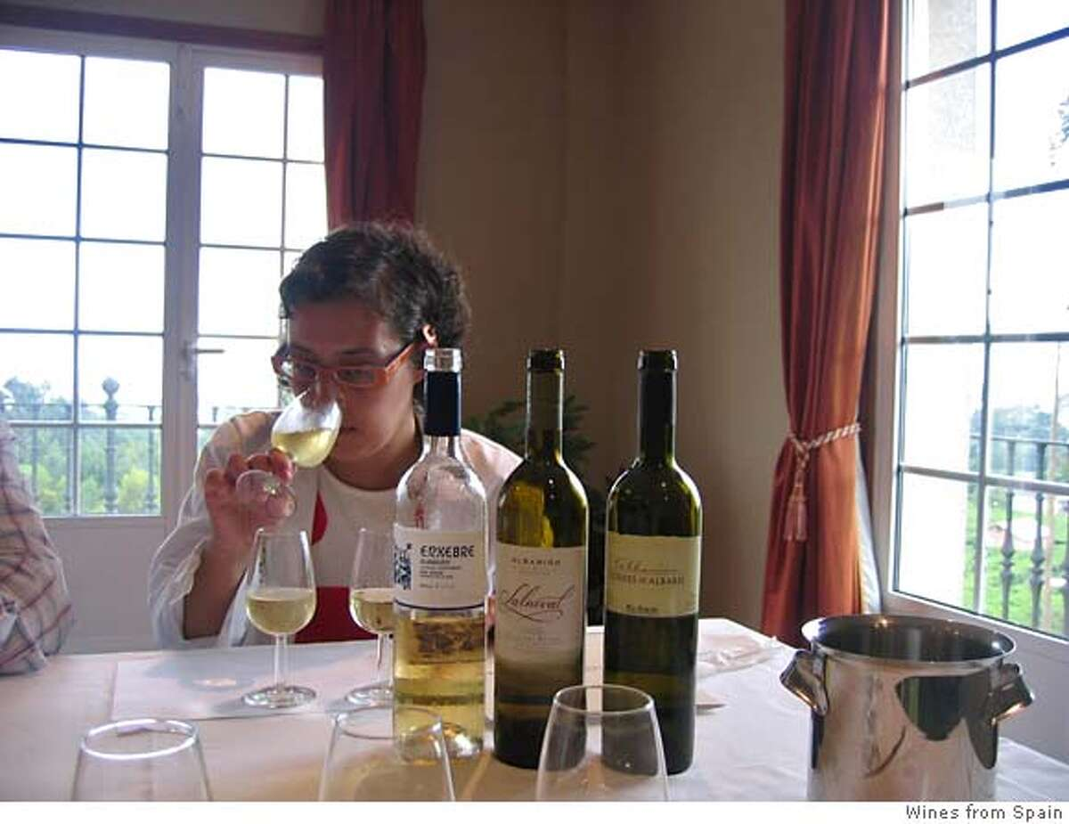 Lucia Caballeira, winemaker at Condes de Albarei. Credit: have to call to check
