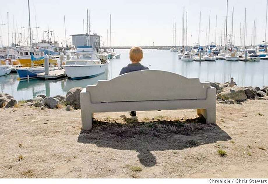 streetdate02_243_cs.jpg The featured Street Date street is Capistrano Road in Princeton by the Sea. A enjoys the sun on a bench above Pillar Point Harbor. The harbor is next to Capistrano Road as it winds its way through Princeton by the Sea, a tiny hamlet edging the Pillar Point Harbor and the Pacific Ocean. Chris Stewart / The Chronicle Princeton by the Sea, Capistrano Road, Ninety-Six Hours  Ran on: 11-02-2006  Pillar Point Harbor, above left, offers fishing trips or just a chance to sit and contemplate. A tiny beach along Capistrano Road lures Keaton Zaun, 6, of Bethlehem, Pa., above, as his dad, Jeff, watches. MANDATORY CREDIT FOR PHOTOG AND SF CHRONICLE/NO SALES-MAGS OUT Photo: Chris Stewart