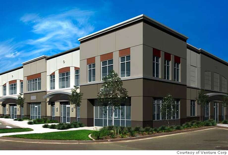Rendering of office condos which are opening this week (3-21-2007) in Alameda's Harbor Bay Business Park.  W/Strictly Commercial Real Estate column. Courtesy of Venture Corp Photo: Courtesy, Venture Corp.