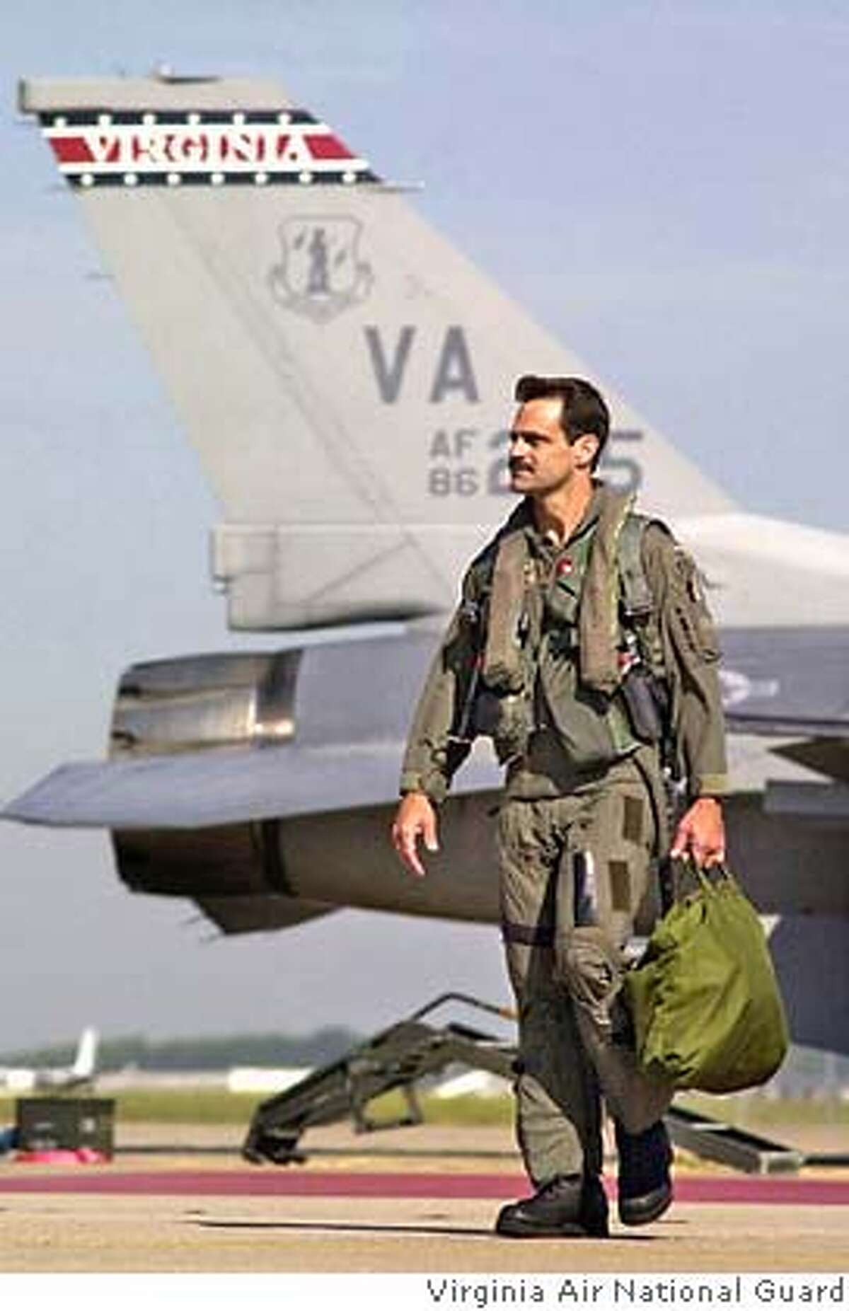 �Brigadier General Peter Bonanni used to fly F-16�s over enemy skies. After he stopped flying, he worked with video game developers to make flight simulators for the Air Force. Credit: Virginia Air National Guard