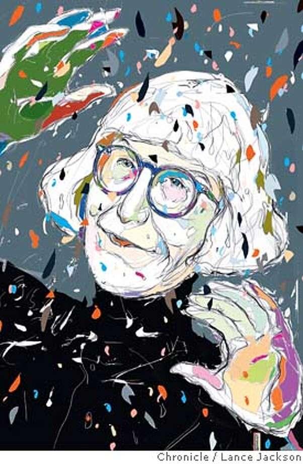 Cynthia Ozick. Chronicle illustration by Lance Jackson