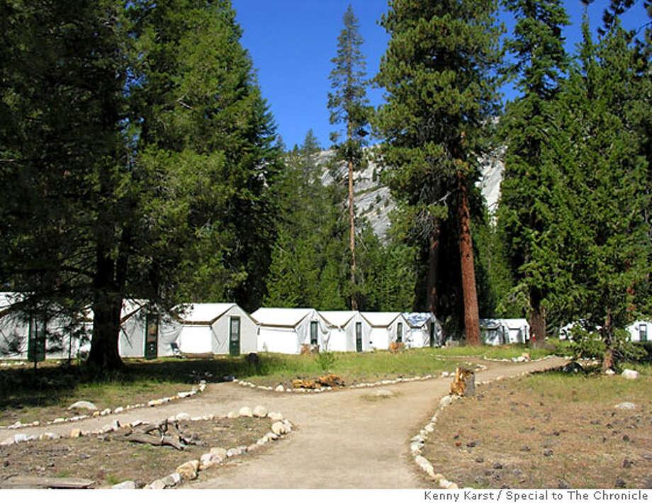 TRAVEL ROGUE -- (for sidebar) The Merced Lake High Sierra Camp in Yosemite. Photo: Kenny Karst