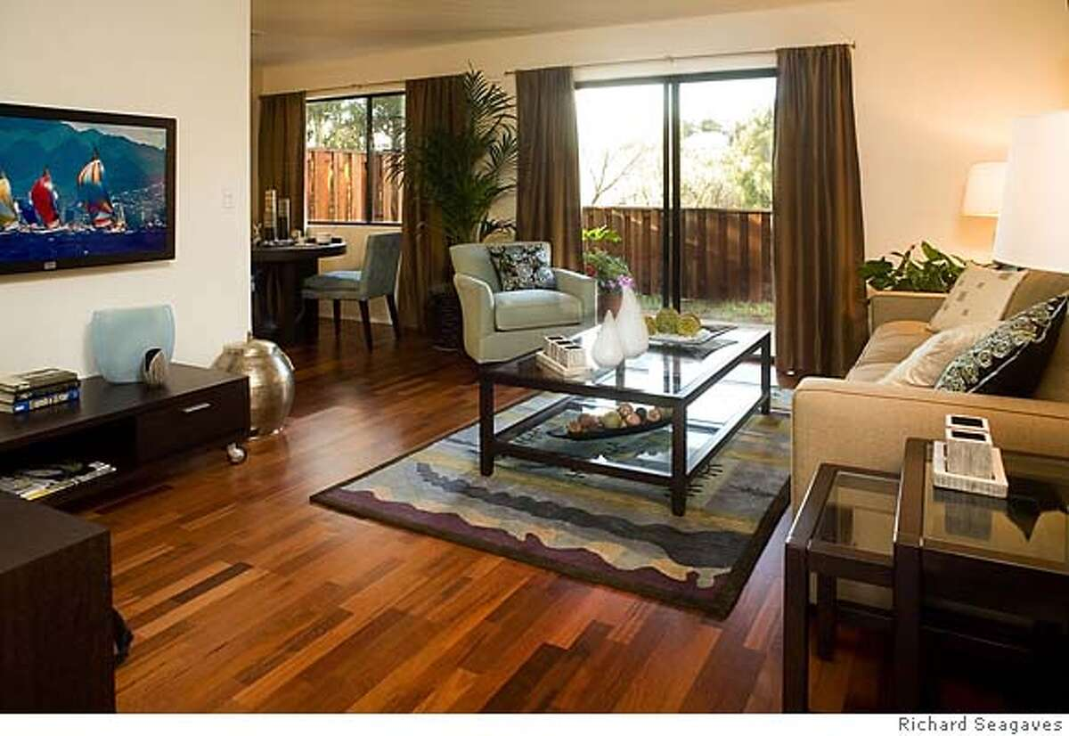 Living room at the Highlands, a 188-unit condo to apartment conversion project in Benicia.