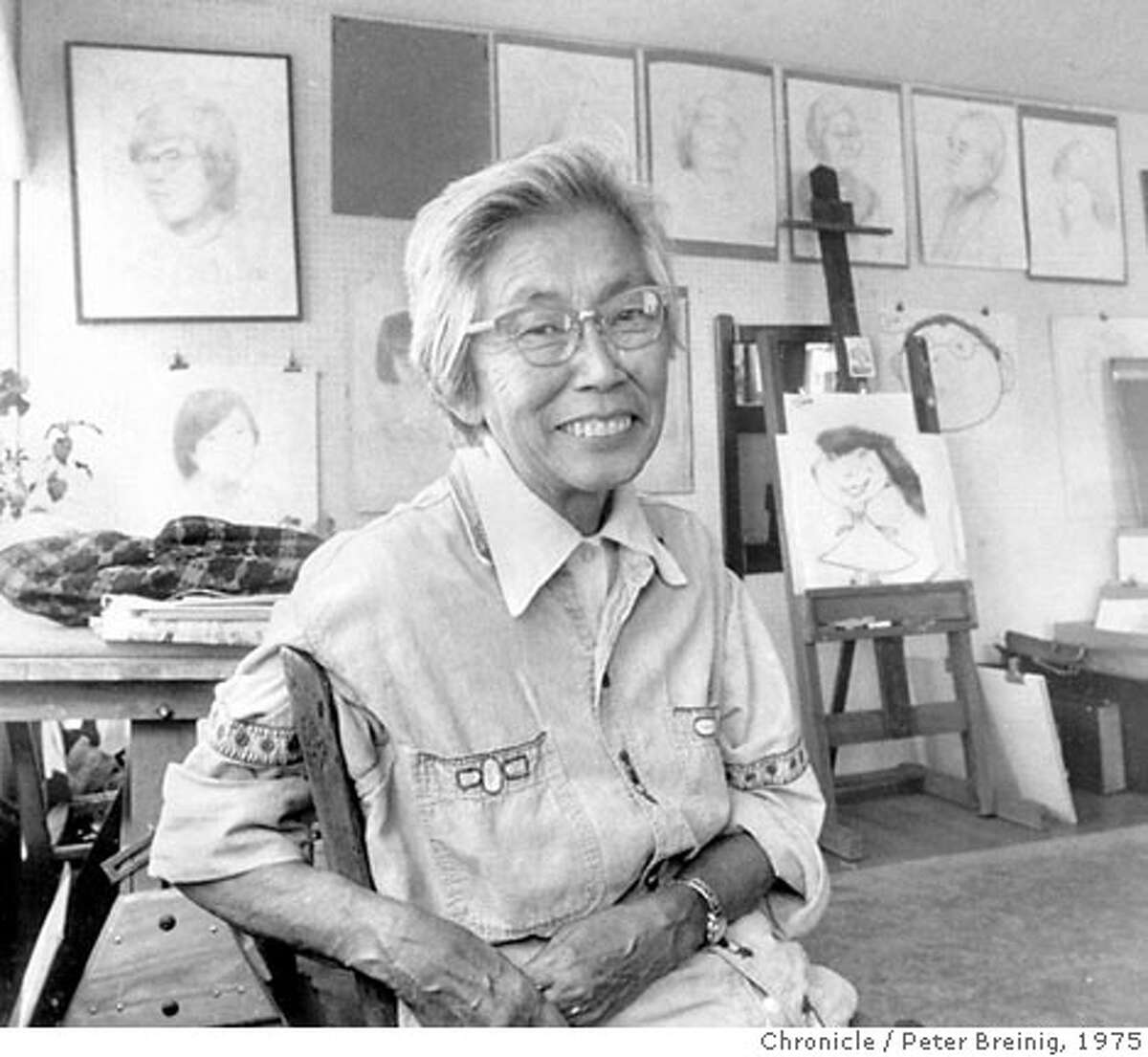 """IWAMATSU18_SD.jpg Mitsu Yashima, America's Tokyo Rose, a San Francisco woman who worked at the OSS in WWII. She is the focus of a sidebar to a story about Sala Iwamatsu, who stars in """"After The War"""" at ACT, a play by Philip Gotanda. Peter Breinig/ San Francisco Chronicle File Photo 1975"""