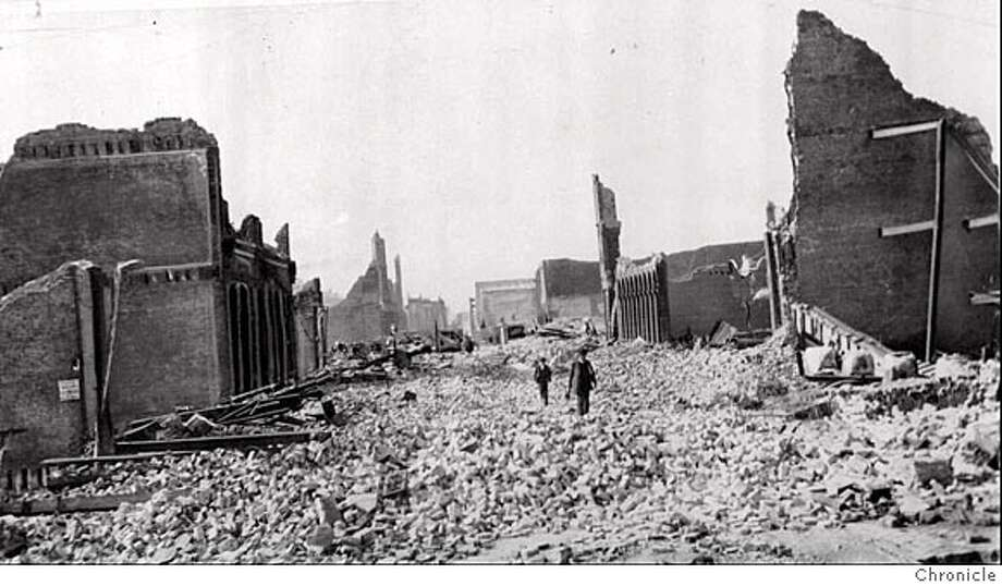 "Quakes above magnitude 7.0 can range from level VIII up. The three highest levels X - where masonry homes are largely destroyed, level XI - where bridges may come down, and level XII where ""damage is total"" are the most intense. San Francisco's 1906 earthquake (damage pictured above) was considered a level XI quake.  Photo: AP"