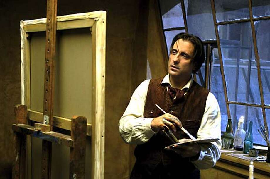 "Movie still from the movie ""Modigliani"" with Andy Garcia as the artist Modigliani."
