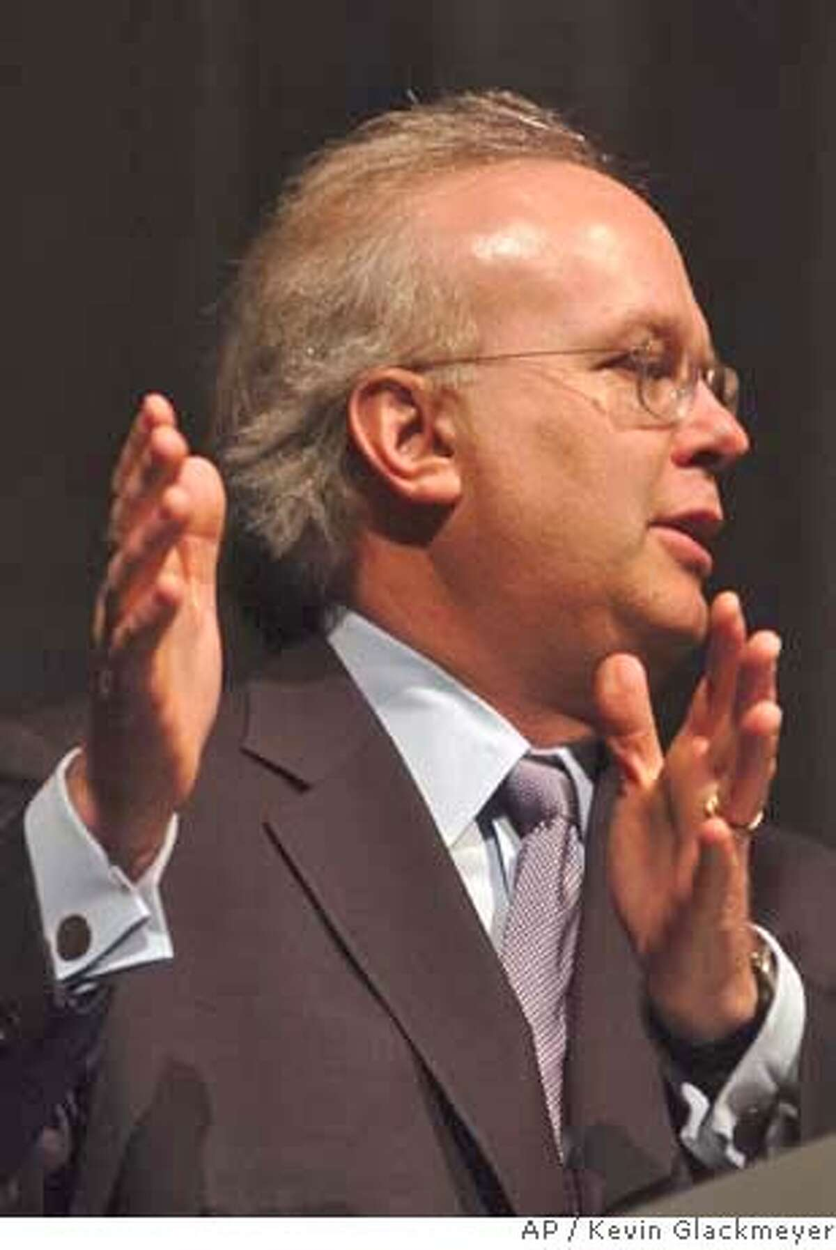 House deputy chief of staff Karl Rove speaks to journalism students, Thursday, March 15, 2007 in Troy, Ala., at a symposium on the campus of Troy University. Rove spoke about media coverage of presidents, politicians and it's effects throughout our history. (AP Photo/Kevin Glackmeyer)
